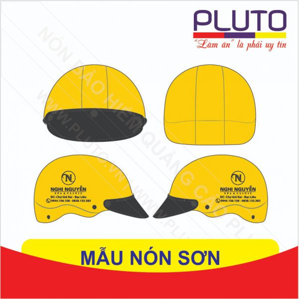 Mẫu nón bảo hiểm quà tặng SPA Nghi Nguyễn