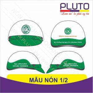 Mẫu nón quảng cáo giả da - Coffee Mallok