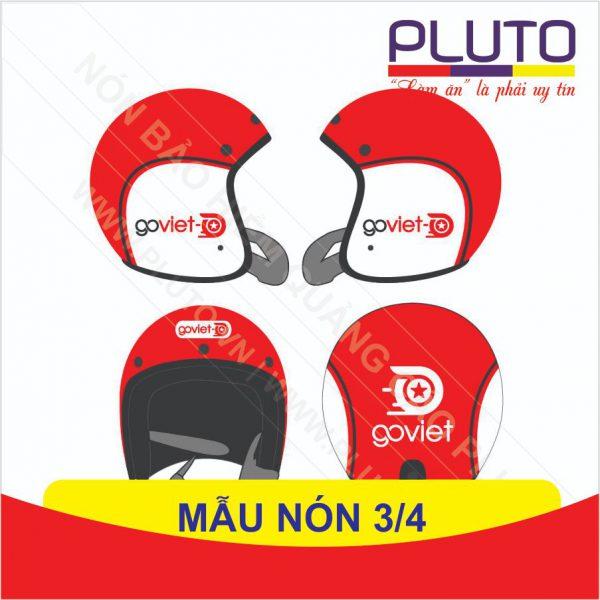 Mẫu thiết kế nón bảo hiểm 3/4 - Goviet
