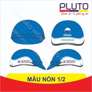 Mẫu thiết kế nón quảng cáo giả da - Iwater