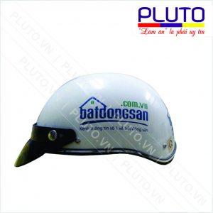 In logo mũ bảo hiểm công ty bất động sản