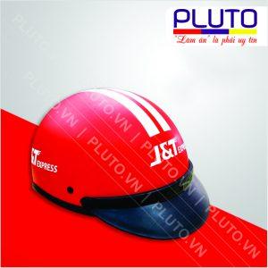 Mũ bảo hiểm quảng cáo công ty giao hàng J&T Express