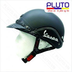 Mũ bảo hiểm quảng cáo ốp da Vespa