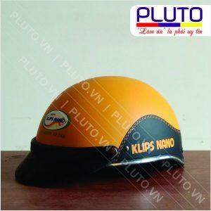 Xưởng sản xuất nón bảo hiểm quảng cáo - Sơn Klips Nano