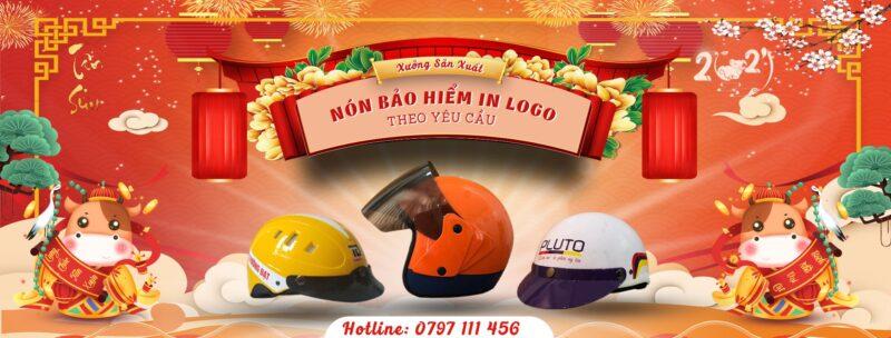 Tặng mũ bảo hiểm in logo