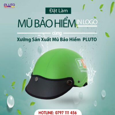mũ bảo hiểm quảng cáo PLUTO